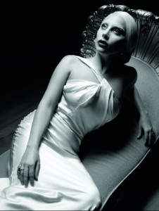 lady gaga laying on a chair, american horror story