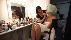 atwood, model, makeup, behind the scenes