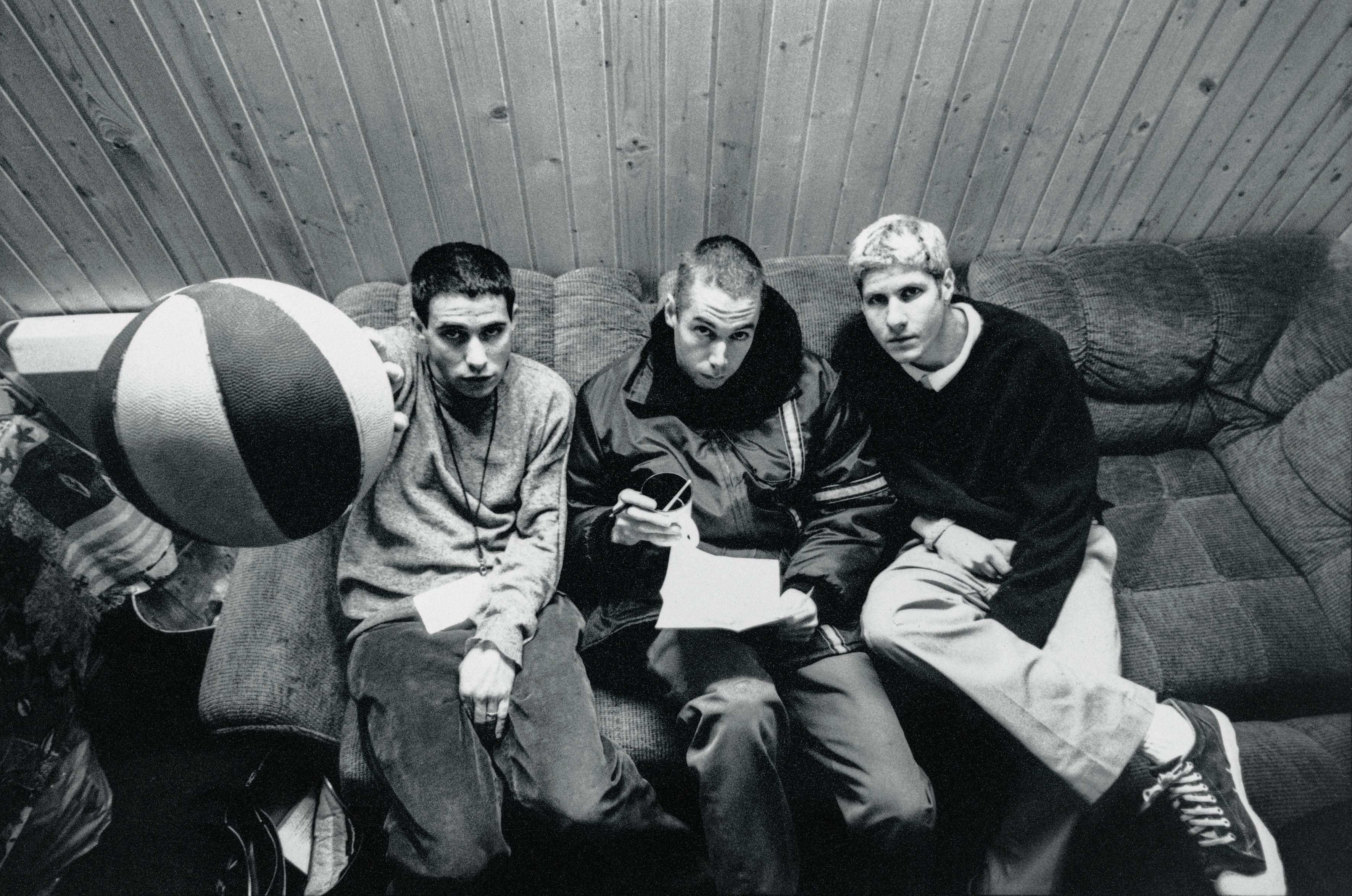 The Beastie Boys shortly after Ill Communication became the first of their three consecutive No. 1 albums for Capitol. Photo: Ari Marcopoulos, Vienna, 1995. © Ari Marcopoulos.
