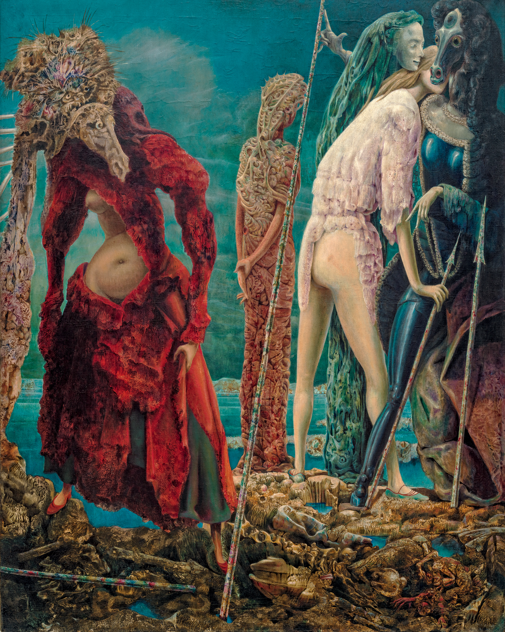 The Antipope (1941–42), by Max Ernst. Oil on canvas, 160.8 x 127.1 cm. Solomon R. Guggenheim Foundation, Peggy Guggenheim Collection, Venice, 1976. © 2017 Artists Rights Society (ARS), New York/ADAGP, Paris.