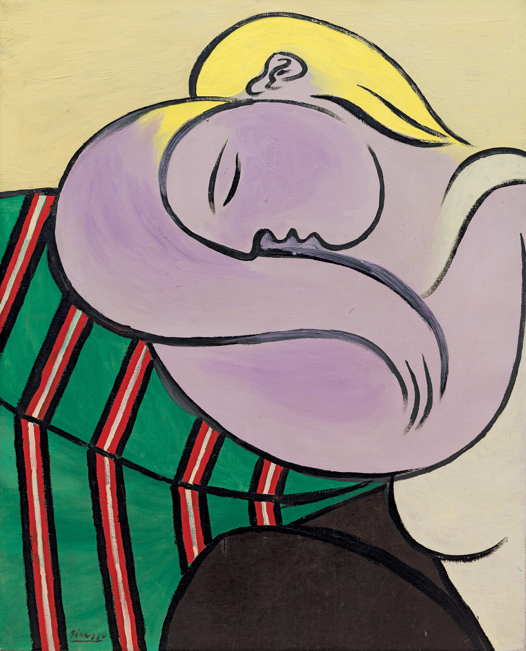 Woman with Yellow Hair (1931), by Pablo Picasso. Oil on canvas, 100 x 81 cm. Solomon R. Guggenheim Museum, New York. © 2017 Estate of Pablo Picasso/Artists Rights Society (ARS), New York.