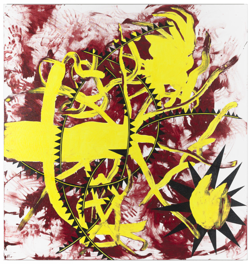 Alastor by Charline von Heyl (2008). Collection Museum of Contemporary Art Chicago, gift of Mary and Earle Ludgin by exchange. © 2008 Charline von Heyl. Photo: Nathan Keay, © MCA Chicago.