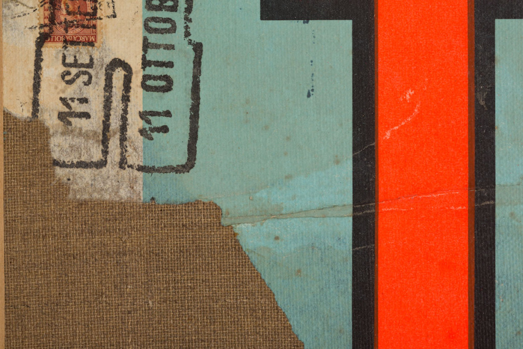 Detail: TAL (1957) by Mimmo Rotella. Décollage on canvas,12 7/8 x 14 1/4 inches. Courtesy of Gladstone 64.