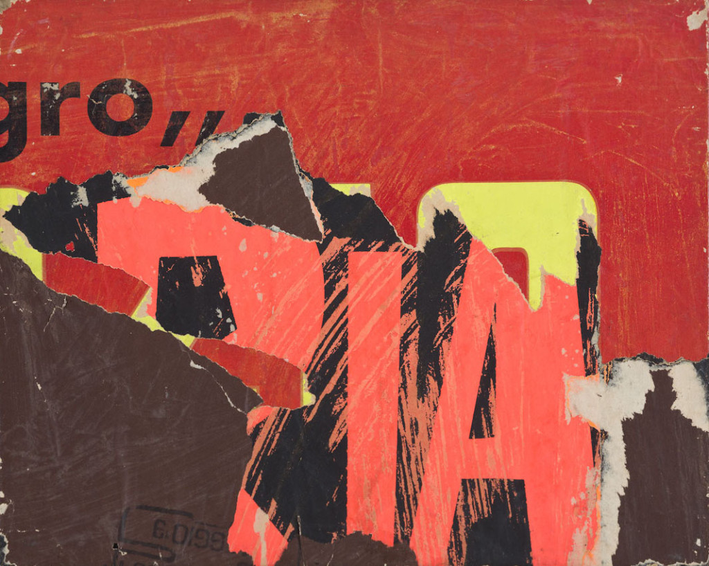 Ria (1958) by Mimmo Rotella. Décollage on canvas,