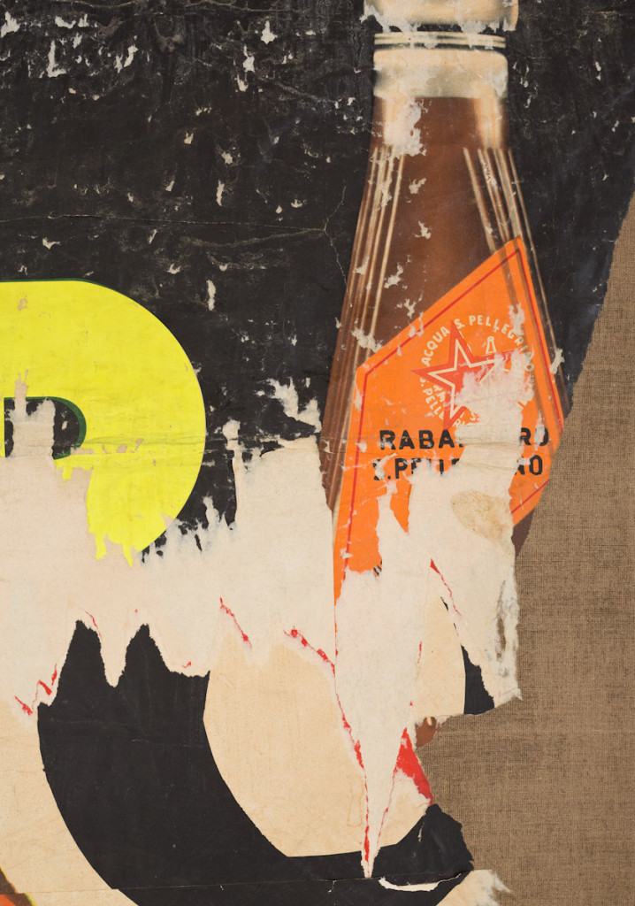 Detail: Scotch Brand (1958-1959) by Mimmo Rotella. Décollage on canvas,