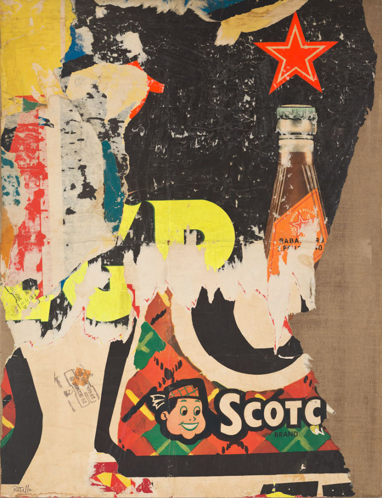 Scotch Brand (1958-1959) by Mimmo Rotella. Décollage on canvas,