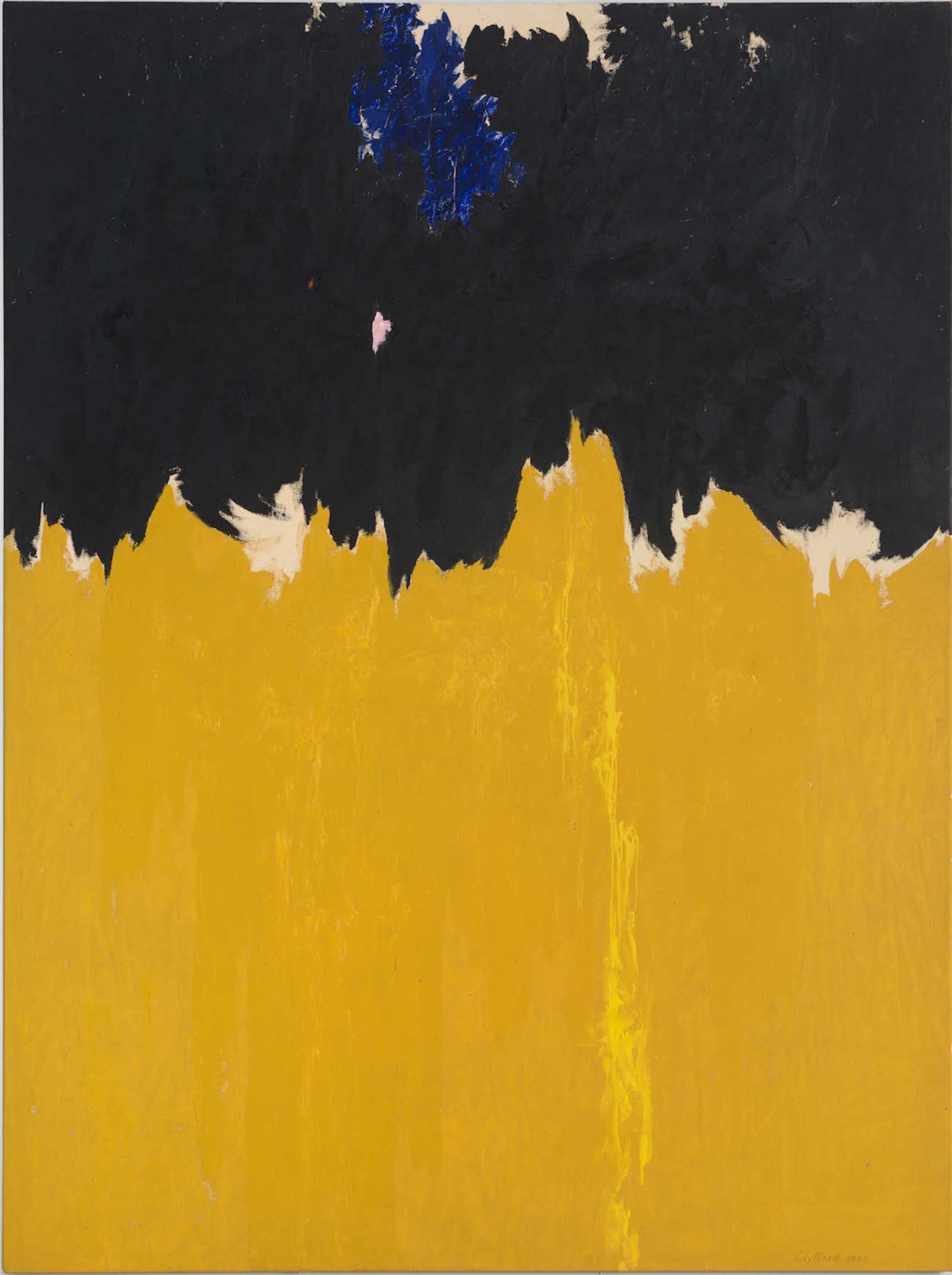 Clyfford Still, PH-950, 1950. Oil on canvas, 233.7 x 177.8 cm. Clyfford Still Museum, Denver (c) City and County of Denver / DACS 2016. Photo courtesy the Clyfford Still Museum, Denver, CO