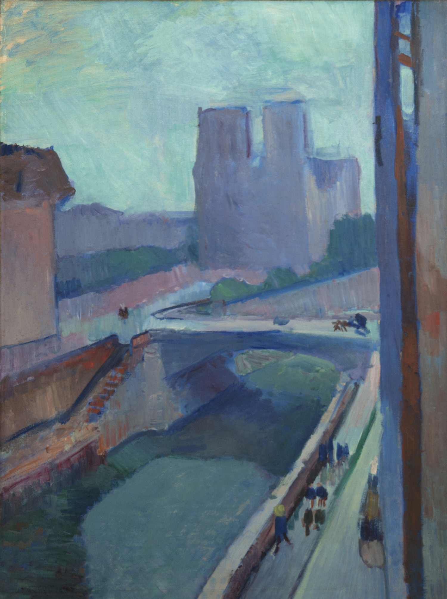 Henri Matisse, Notre Dame, A Late Afternoon, 1902; oil on paper mounted on canvas; Collection Albright-Knox Art Gallery, Buffalo, New York, gift of Seymour H. Knox, Jr; © Succession H. Matisse / Artists Rights Society (ARS), New York.