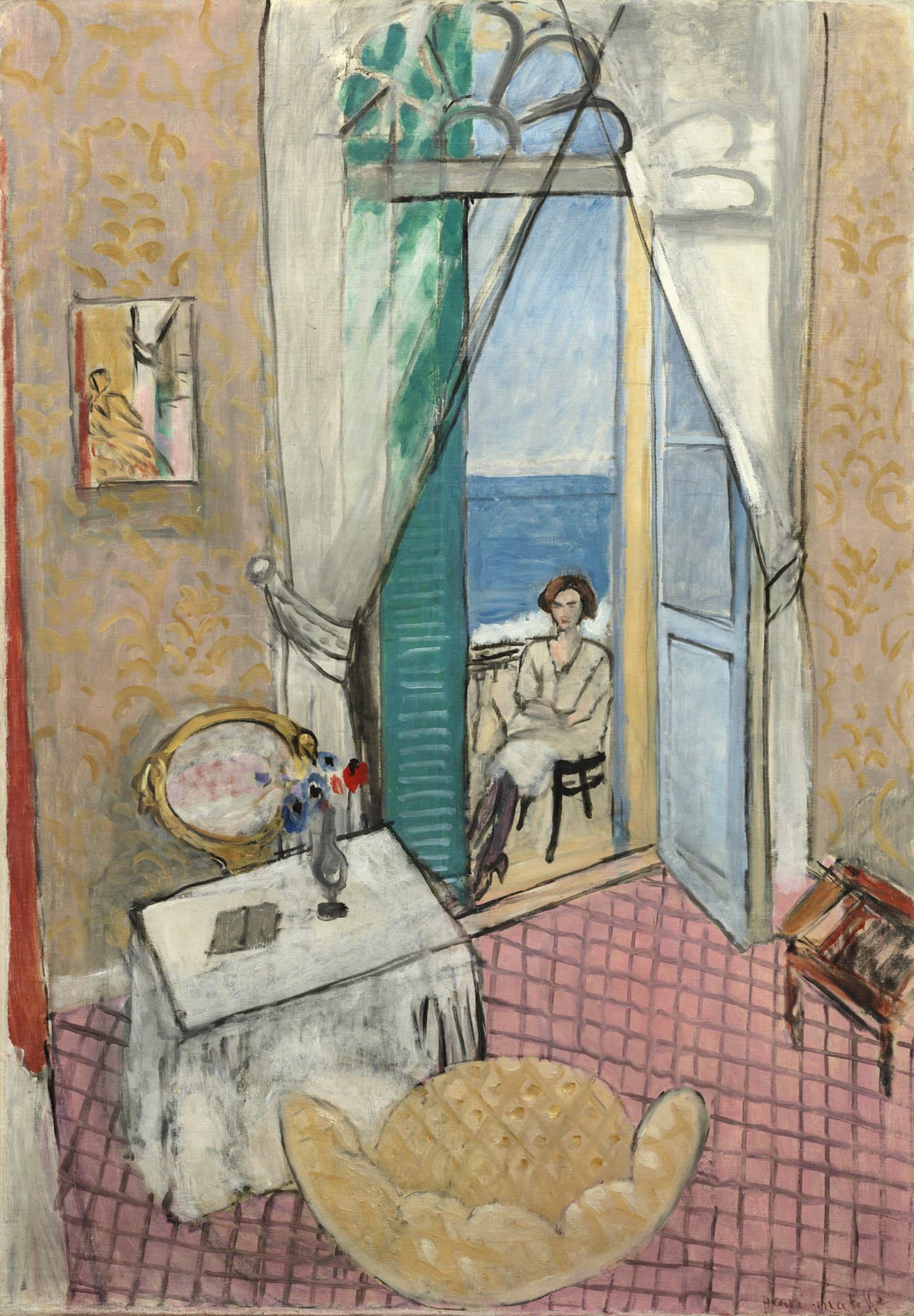 7. Henri Matisse, Interior at Nice, 1919; oil on canvas; the Art Institute of Chicago; © Succession H. Matisse / Artists Rights Society (ARS), New York.