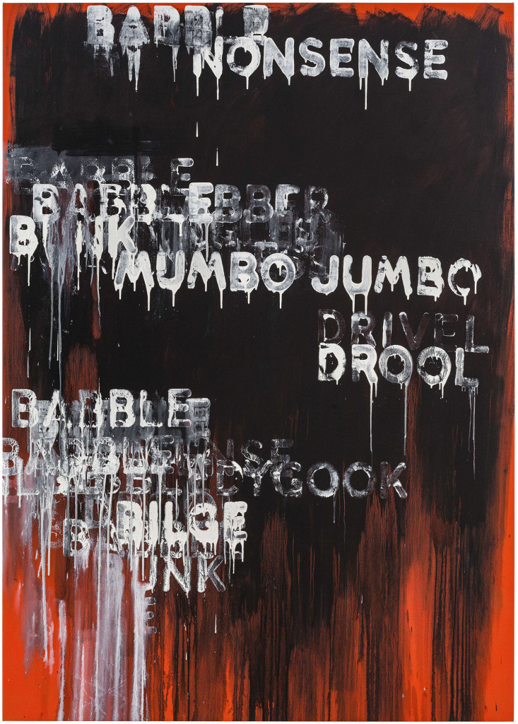 Babble (2015). oil and acrylic on canvas. 87 x 62 inches