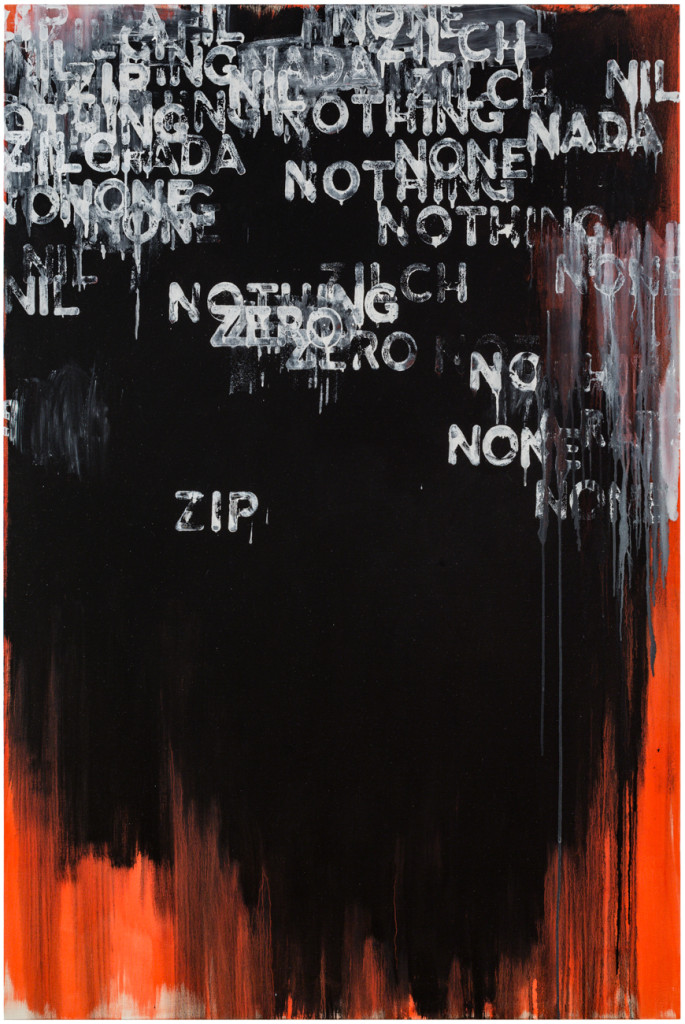 Zip (2015). oil and acrylic on canvas. 75 x 50 inches.