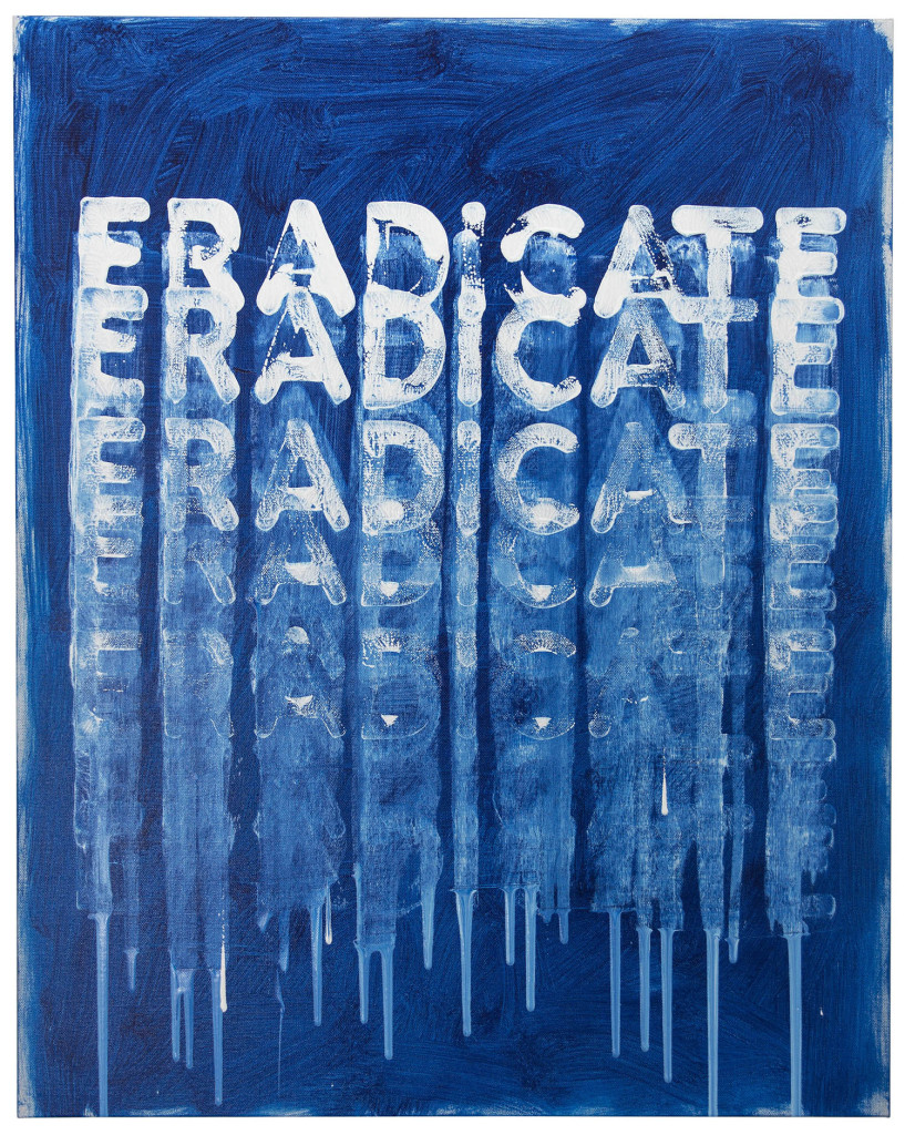 Eradicate (2016). oil on canvas. 30 x 24 inches.