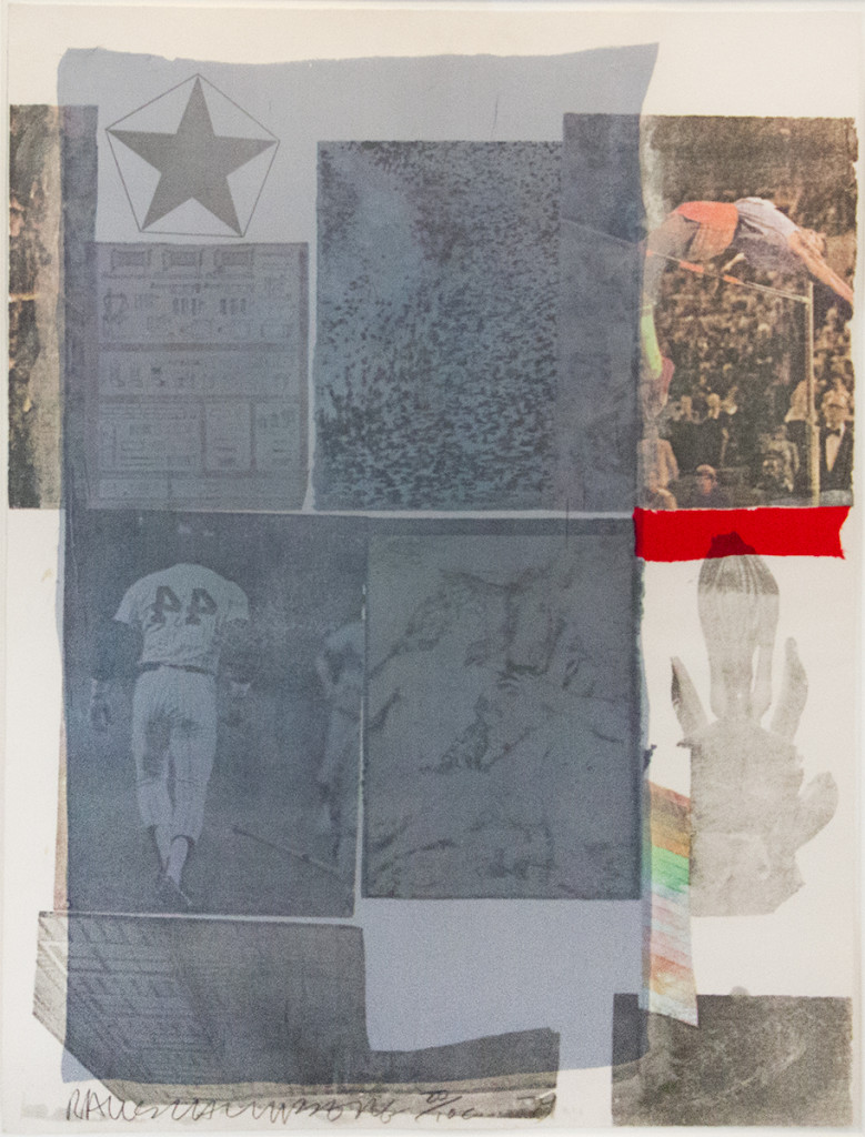 """Back Out, (1979). Collage & Transfer. 30 x 23"""". Edition 100."""