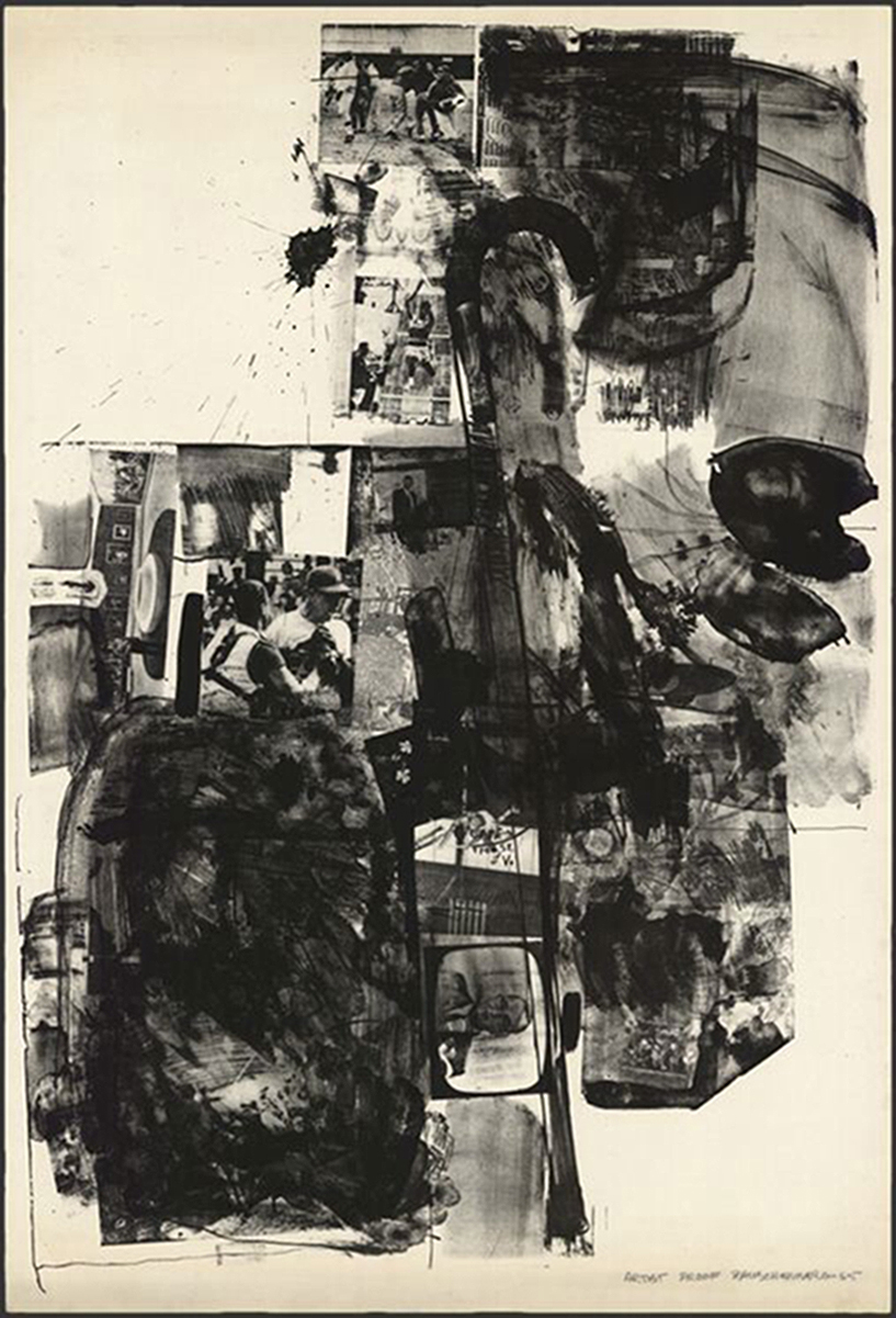 """Post Rally, (1965). Lithograph. 46 in. x 31 1/2"""". Edition 42."""
