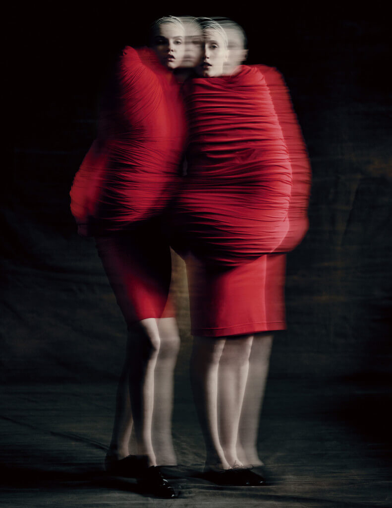 Body Meets Dress–Dress Meets Body, spring/summer 1997; Courtesy of Comme des Garçons. Photograph by © Paolo Roversi; Courtesy of The Metropolitan Museum of Art.