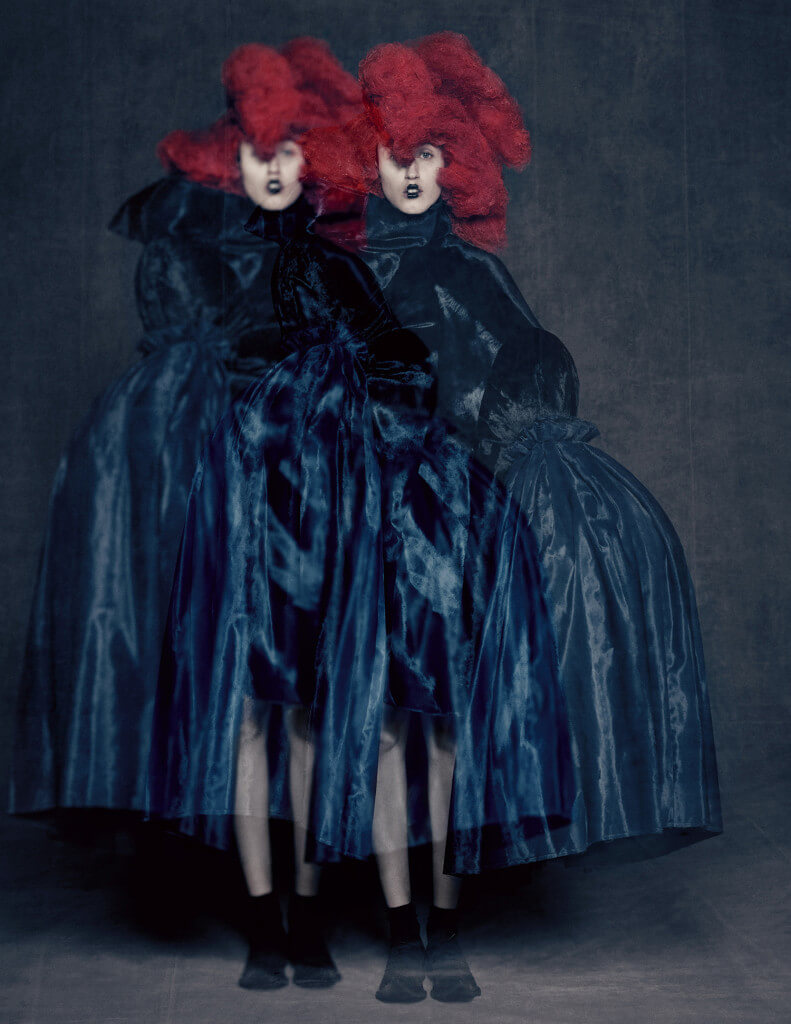 Blue Witch, spring/summer 2016; Courtesy of Comme des Garçons. Photograph by © Paolo Roversi; Courtesy of The Metropolitan Museum of Art.