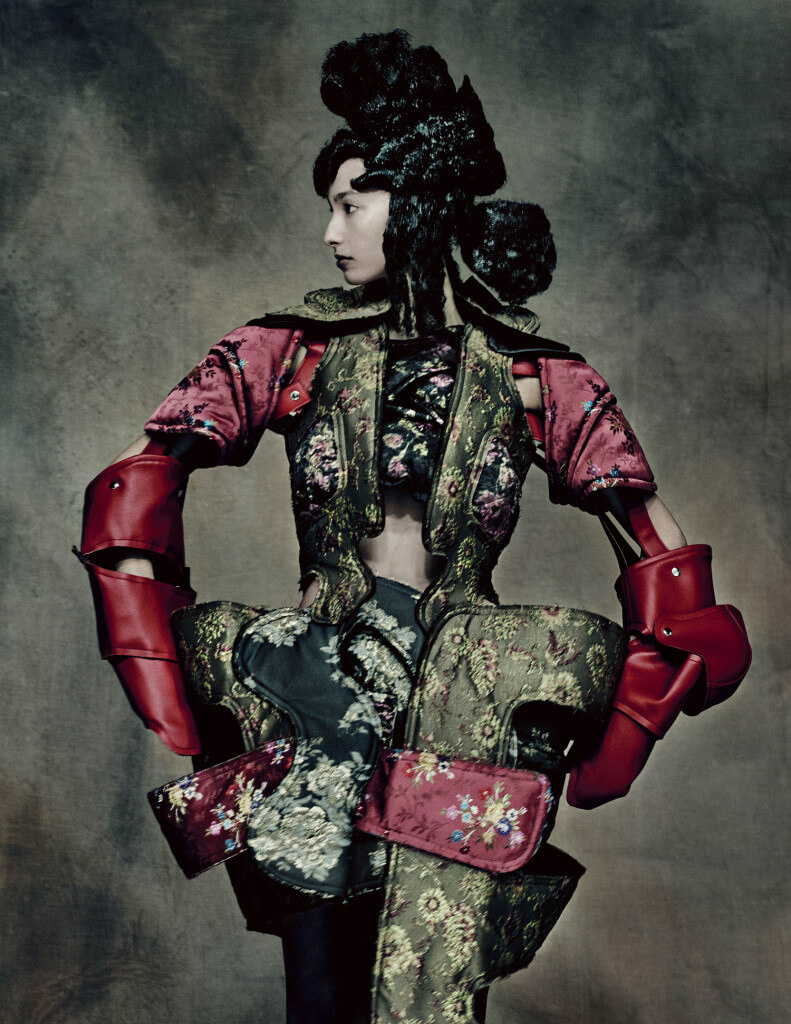18th-Century Punk, autumn/winter 2016–17; Courtesy of Comme des Garçons. Photograph by © Paolo Roversi; Courtesy of The Metropolitan Museum of Art Rei Kawakubo/Comme des Garçons: Art of the In-Between.