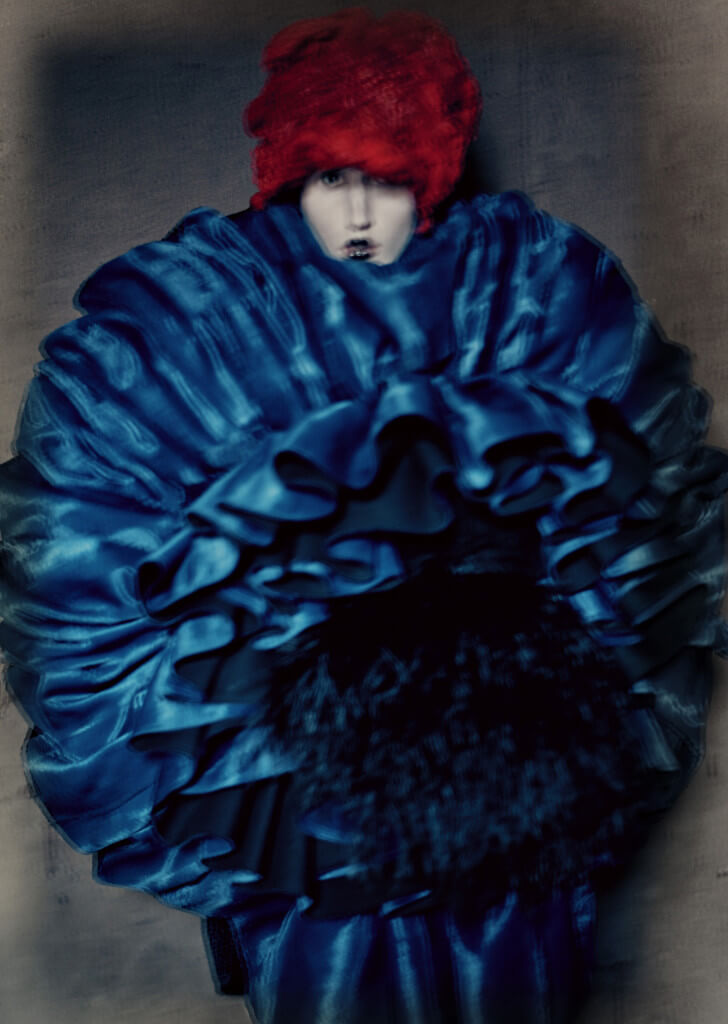 Blue Witch, spring/summer 2016. Photograph by © Paolo Roversi; Courtesy of The Metropolitan Museum of Art.